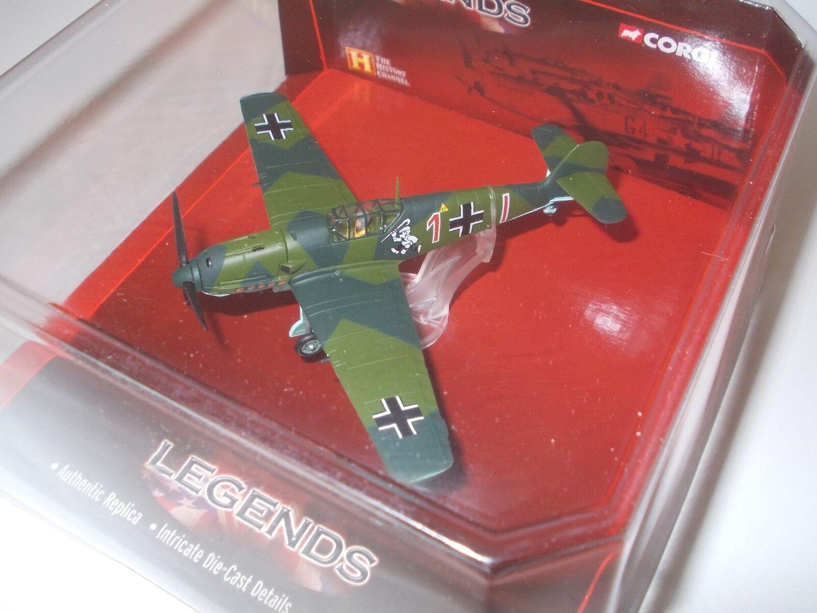 1 72 Me Me Me 109 E-1 von Pilot Eduard Neumann, Luftwaffe 2. Weltkrieg, Corgi, Metall    Elegante Form  e0623d