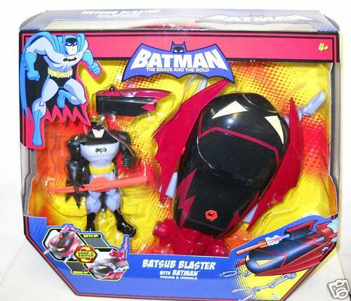 NRFB Mattel Batman Figure with Batsub Blaster