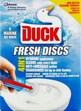 Duck 4 in 1 Marine Fresh Flush Activated Gel Discs for Toilets 6 Marine Discs