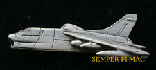 VOUGHT A-7 CORSAIR JET PEWTER HAT PIN MADE IN US AIR FORCE NAVY MARINES GIFT WOW