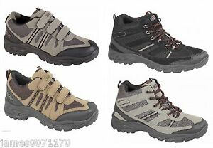 Mens-shoes-velcro-fastening-walking-hiking-Trail-Trainers-size-6-7-8-9-10-11-12
