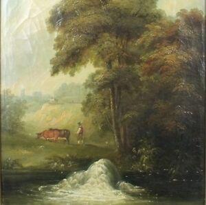 ALTES-OLGEMALDE-AUF-LW-ROMANTIKER-UM-1780