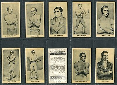 CARTLEDGE-FAMOUS PRIZE FIGHTERS BOXING STRICKLAND MATT WHITE PRINT -#35