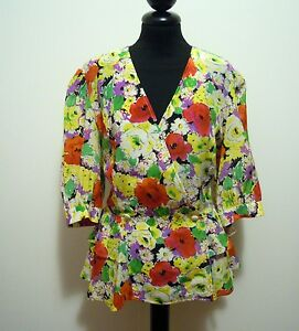 FIORELLA-RUBINO-Camisa-Chaqueta-De-Mujer-Woman-Jacket-camisa-Sz-L-46