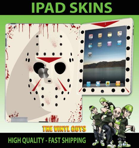 Apple IPAD 2, 3, 3g, 4g & WIFI Adesivo Vinile Jason Voorhees Maschera BLOODY della pelle