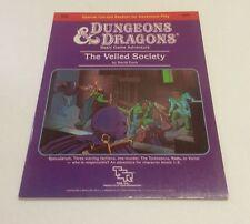 B6 THE VEILED SOCIETY  AD&D D&D Module Dungeons Dragons Adventure TSR..(C6B5)