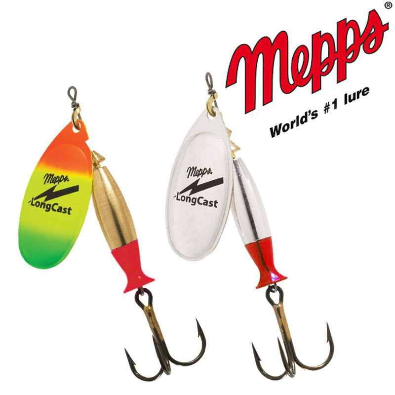 Mepps LONGCAST fishing spinners. BRAND NEW. Different sizes/colors