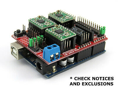Arduino CNC Shield V3.51 - GRBL v1.1 compatible - Uses Pololu Drivers