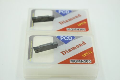 1-Edge Insert 2Pcs PCD Inserts MGMN150 1.5mm Width Parting Grooving PCD-Tipped