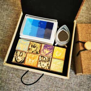 JOJO-039-s-Bizarre-Adventure-Kujo-Jotaro-Avatar-Pattern-Wooden-Seal-Collection-Gift