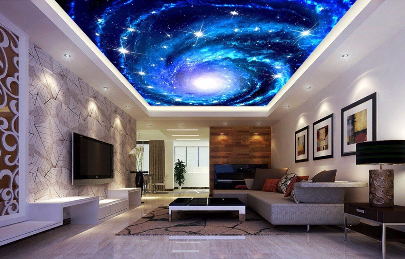 3D Vortex Bule Ceiling WallPaper Murals Wall Print Decal Deco AJ WALLPAPER AU