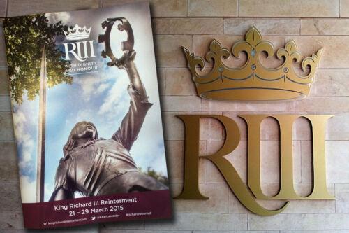 King Richard III 3rd Reinterment programme Souvenir A5 booklet
