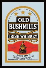 Old Bushmills Irish Whiskey Nostalgie Barspiegel Spiegel Bar Mirror 22 x 32 cm