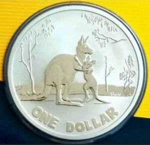 Australian-2007-1-ROLF-HARRIS-KANGAROO-FROSTED-UNC-One-Dollar-Coin-Carded