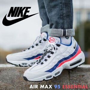 save off 1b66d 7bfe6 Details about Nike Air Max 95 Essential Men's Ultramarine Solar Red Shoes  (749766-106) Size 13