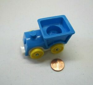 Vintage Fisher Price Little People AIRPORT TRAM CAR Blue w// Yellow #966 Train