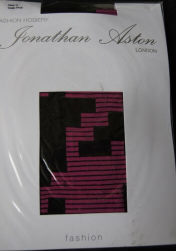 "Jonathan Aston Toxic Pink//Black /""Jigsaw/"" Tights"