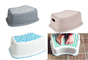 Anti-Slip-Plastic-Step-Stool-Booster-Toilet-Kids-Potty-Training-Home-Bathroom