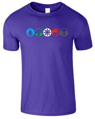 MAGO Magia per Bambini T Shirt MTG OLYMPIC Magici Colori Ispirato TOP TEE T-shirt
