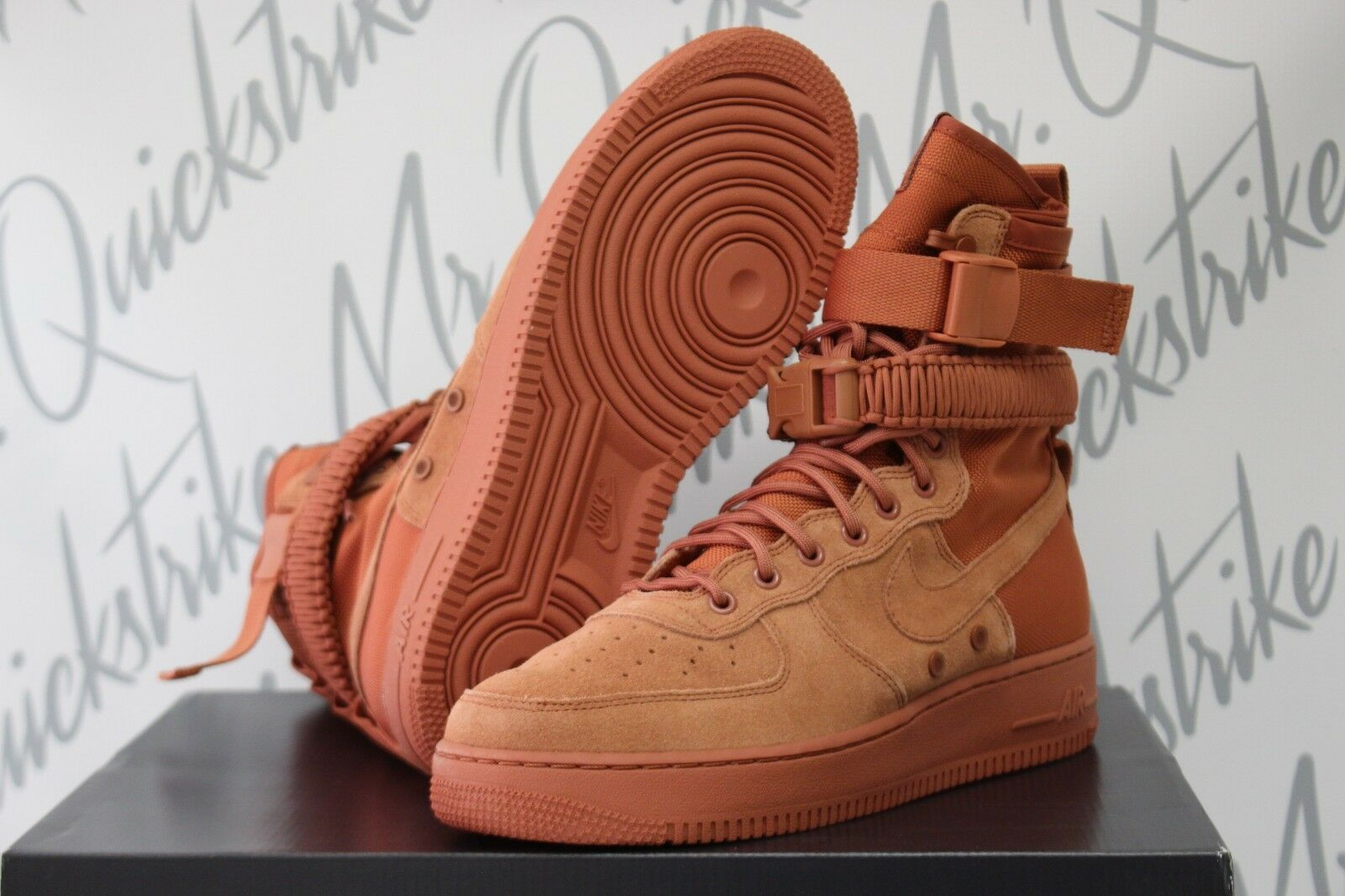 NIKE SF AF-1 HIGH AIR FORCE 1 SPECIAL FIELD SZ 10 AF1 DUSTY PEACH 864024 204