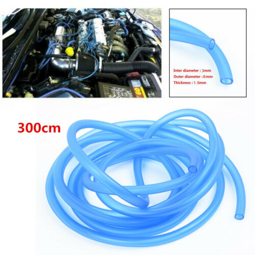 Universal Silicone Vacuum Spare Gas Oil Fuel Line Tube 3MM ID For Car Motorcycle