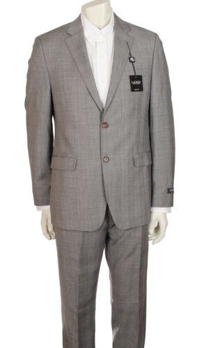 Ralph Lauren Men's Light Grey Plaid Slim Fit Suit 2 Piece Wool ...