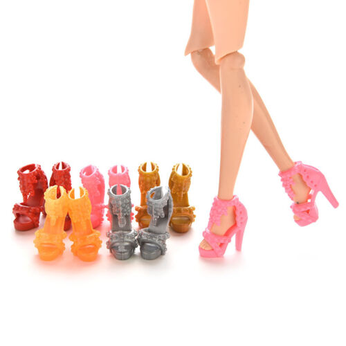 10Pairs Doll Shoes High Heel Sandals for  Doll Princess Color Random*-*