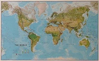 Cartina Mondiale Fisica.Fisica Cartina Mondiale Poster 1 20mio Formato Orizzontale 195x125cm 110054 Ebay
