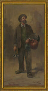 Valente-b-1897-Signed-20th-Century-Oil-Portrait-of-an-Italian-Shop-Owner