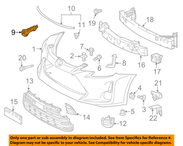 OE Replacement Honda Civic Front Bumper Bracket Multiple Manufacturers HO1067116N