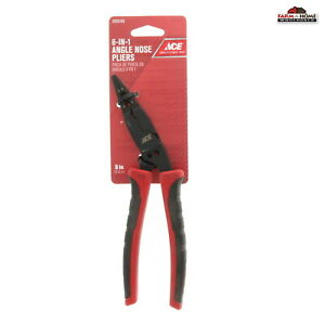 """6 in 1 Multi-Function 8"""" Angle Nose Pliers ~ NEW"""