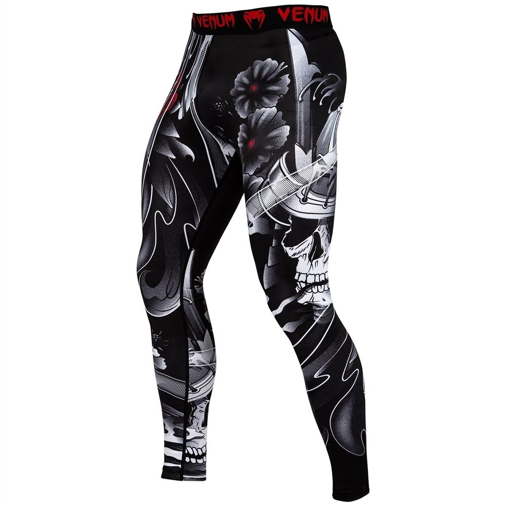 Venum Spats Samurai Skull Tights MMA BJJ No-Gi Grappling Compression Gym