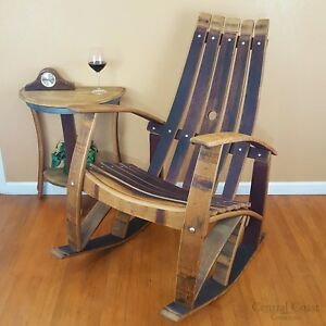 Perfect Image Is Loading WINE BARREL Stave ROCKING CHAIR Home Rustic Furniture