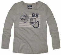 Boys Printed Grey Long Sleeved T Shirt New Kids 100% Cotton Tops Ages 2-7 Years