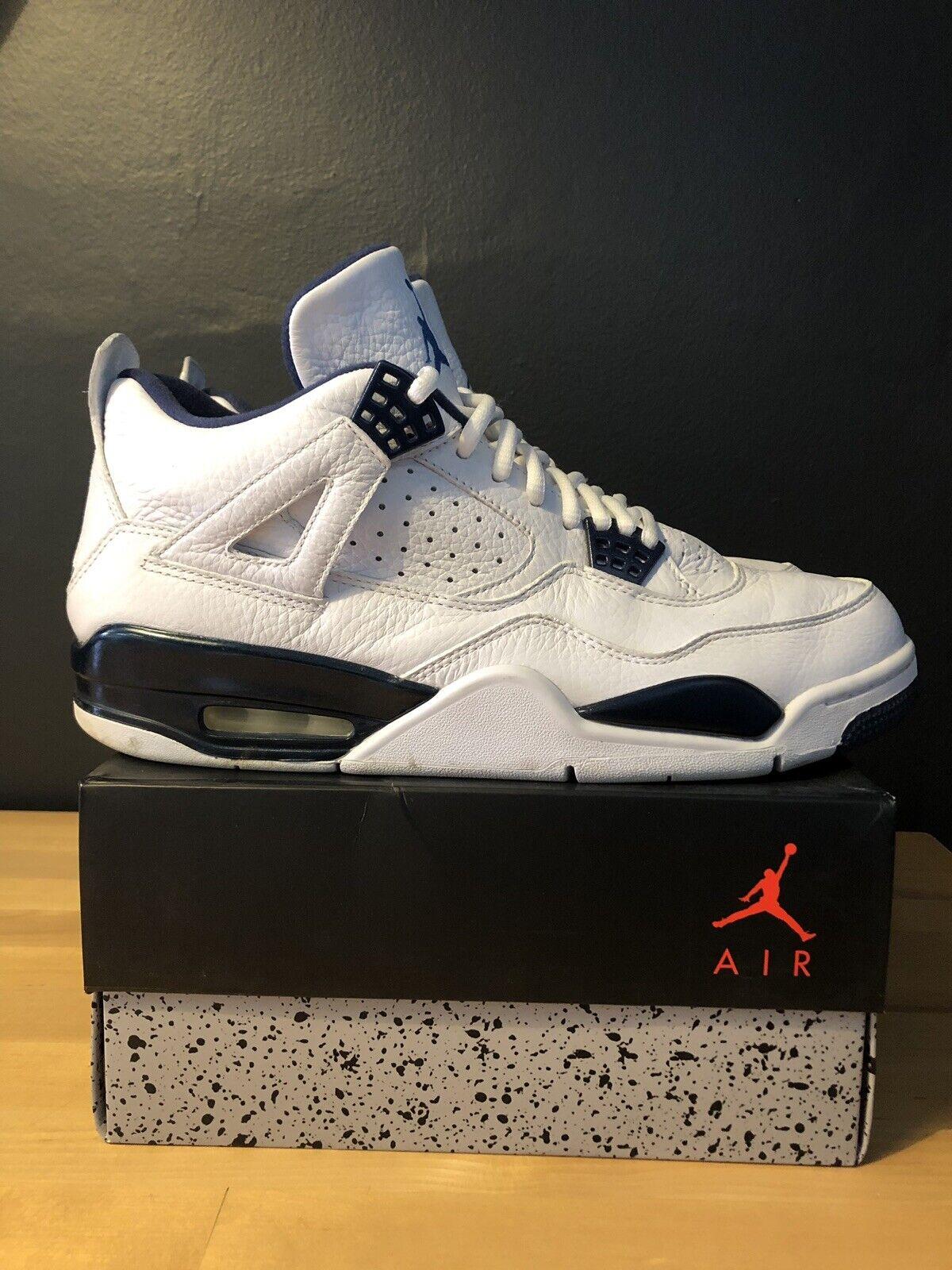 Nike Air Jordan 4 IV Retro Columbia Weiß Legend Blau UK 9 US 10