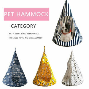 Removable-Pet-Cute-Hanging-House-Conical-Hammock-Washable-Cat-Tent-for-Small-Dog