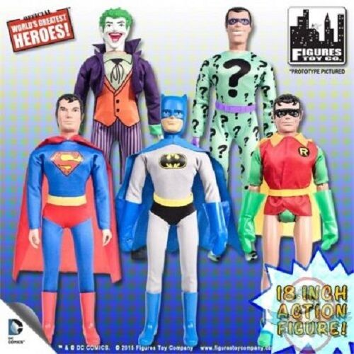 Retro DC Comics Figuras De Acción Serie 1 18  Juego de 5 figuras
