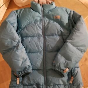 ecde8c328 Details about Girl's THE NORTH FACE 600 Down Puffer Jacket Large Light Blue