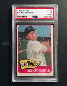 1965-Topps-Mickey-Mantle-350-New-York-Yankees-Baseball-Card-PSA-EX-Solid-5-MC