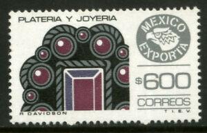 MEXICO Exporta 1497 $600P Jewellery Fluor Paper 13 MNH
