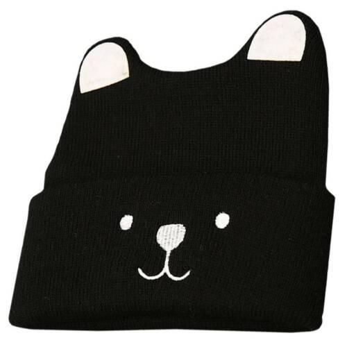 Toddler Kid Girl Boy Winter Warm Crochet Knit Cat Ear Hat Infant Baby Beanie Cap