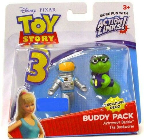 Action Links Buddy Pack Astronaut Barbie /& The Bookworm Mini Figure 2-Pack