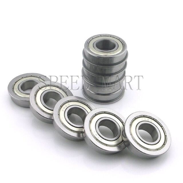 "2 pcs MR6 3//8/"" x 7//8/"" x 9//32/"" Metal Shielded  Flanged  Ball Bearings FR6zz"