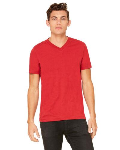 Canvas Mens Short Sleeve V-Neck T-Shirt Cotton Delancey Tee XS S M L XL 2XL 3005