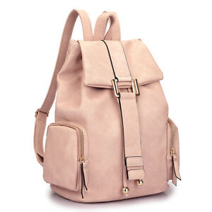 Dasein Women Handbags Faux Leather Backpack Girls School Travel Bag Rucksack