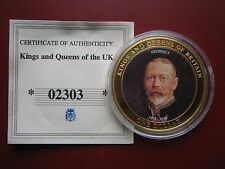 Cook Islands 2007 $1 Dollar coin King George V Kings & Queens of Britain w/ COA