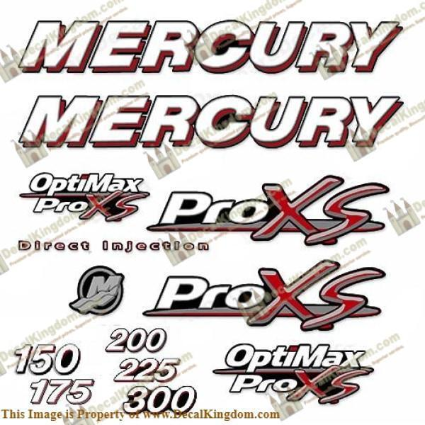 Mercury 150-300hp Optimax proxs Calcomanía Kit