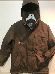 Burton-Snowboard-Company-Boys-Brown-Hooded-Coat-Large-Ski-Snow-Jacket-Element-JK