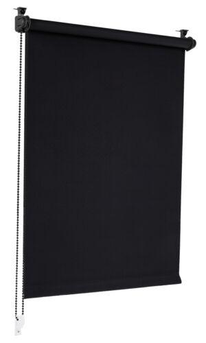 Verdunkelungsrollo Schwarz 75x150cm Klemmrollo Verdunklungsrollo Seitenzugrollo
