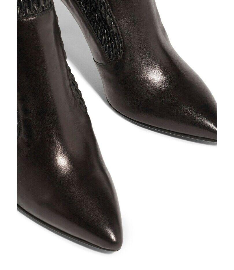 Karen Miller Textured Leather UK Ankle Boots Size UK Leather 5 747ebd